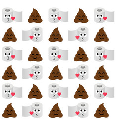 Pile poop and toilet tissue paper background vector