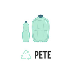 plastic recycling icon symbol and sign pete pet vector image