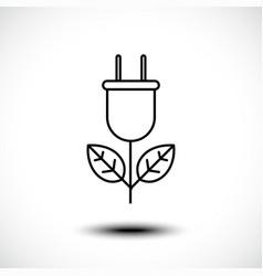 plug leaves design eco bio energy saving vector image
