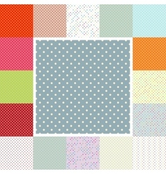 Polka dots set EPS 10 vector image