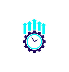 Productivity and efficiency growth icon vector
