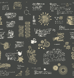 Seamless pattern on a scientific theme vector