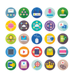 Seo and digital marketing icons 15 vector