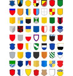 Set coat arms vector