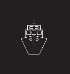 Ship icon transport symbol vector