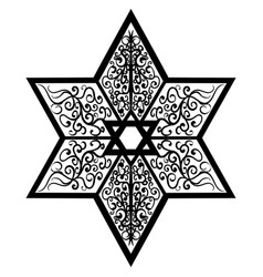 Sketch tattoo star of solomon vector