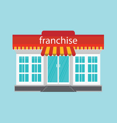 small store or franchise isolated on blue vector image