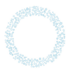 snowflakes winter wreath circle ornament vector image