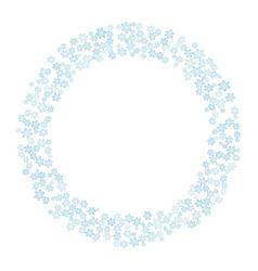 snowflakes winter wreath circle ornament vector image