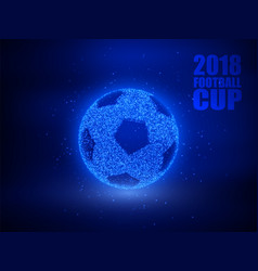 soccer ball abstract background vector image
