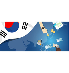 South korea fiscal money trade concept vector