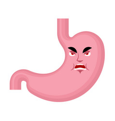stomach angry emoji face avatar belly evil vector image