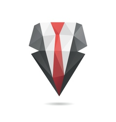 Suit with tie abstract vector