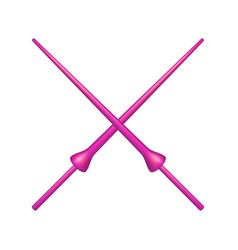two crossed lances in pink design vector image