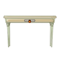 White table vector image