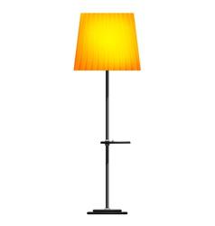 Yellow floor lamp on a white background vector