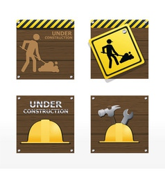 beware traffic sign on wood background vector image