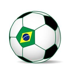 brazil soccer ball vector image vector image