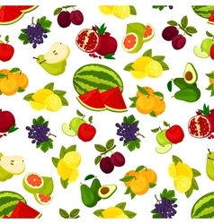 Fresh juicy bright fruits pattern vector image