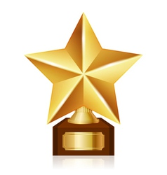 gold star award vector image vector image
