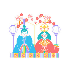 icon hinamatsuri japan vector image vector image
