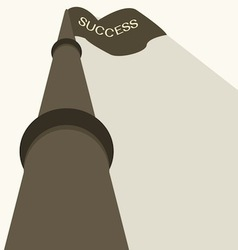 business success flag vector image vector image