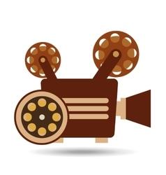 camera movie vintage film reel icon design vector image