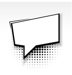 comic empty paper square babble soft shadow vector image vector image