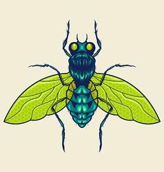 flies mascot vector image vector image