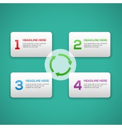 Infographics process template with set of numbers vector image