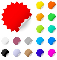 abstract colorful labels vector image