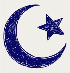 Crescent Islamic symbol vector image vector image
