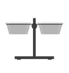 dog bowl stand icon isolated vector image