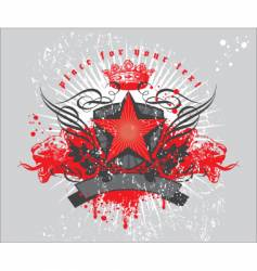 heraldic composition with red star vector image