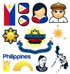 Philippines Symbols vector image vector image