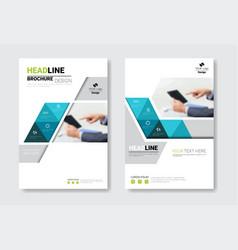 template design brochure set annual report vector image vector image
