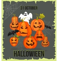 Vertical Halloween grunge banners with pumpkin vector image vector image