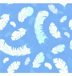 abstract feathers background vector image vector image