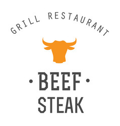 bbq beef steak grill restaurant image vector image