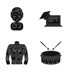 Profession medicine education and other web icon vector