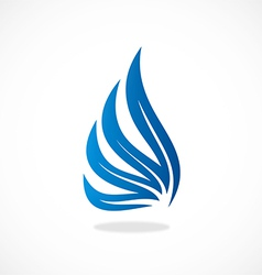wing abstract logo vector image