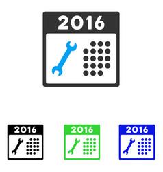 2016 service calendar flat icon vector