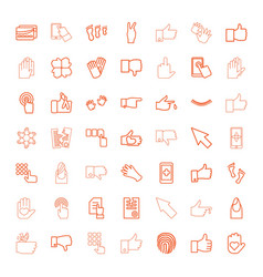 49 finger icons vector image