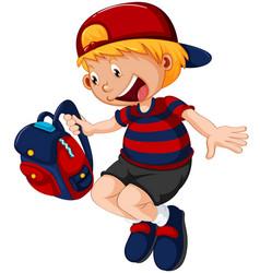 A school boy character vector