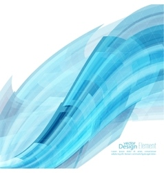 Abstract background with blue curved stripes vector