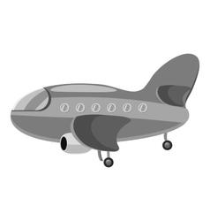 Airplane icon gray monochrome style vector image