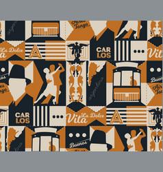 Argentina pattern seamless design vector