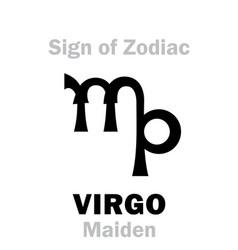 astrology sign of zodiac virgo the maiden vector image
