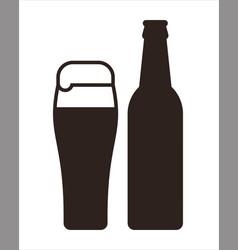 beer mug and bottle vector image