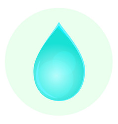 blue water drop icon vector image